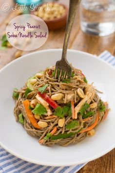 A 30 minute Spicy Peanut Soba Noodle Salad that's irresistible! | Little Spice Jar