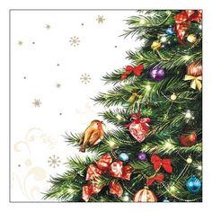 Kerst servetten met kerstboom 20 stuks  Servetten met kerstboom 20 stuks. Papieren servetten met een kerstboom. De servetten zijn 33 x 33 cm.  EUR 3.95  Meer informatie