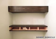 I DIY'd a set of chunky wooden floating shelves for less than $15 per shelf!