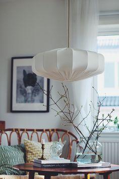 Taklampa retro ECO off white 60 cm via Lampverket unika lampor