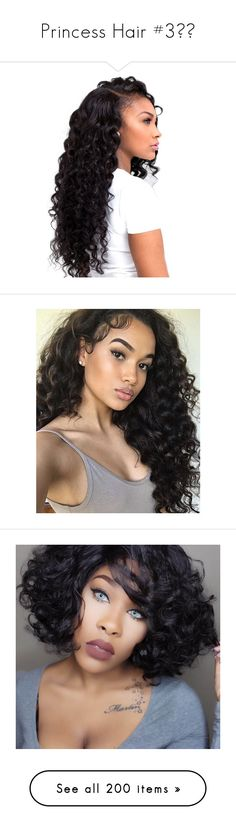 """""""Princess Hair #3💇🏾"""" by lovetayla ❤ liked on Polyvore featuring beauty products, haircare, hair styling tools, hair, hairstyle, curly hair care, girls, people, beauty and hairstyles"""