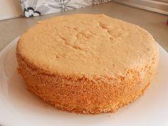 Bizcocho base para tartas sin levaduras o conservantes