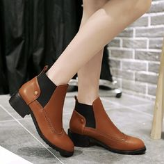 (28.25$)  Know more  - New Women Shoes Fashion Chelsea Ankle Boots Elastic Martin Boots For Women Female Thick Heel Plus Size Boots Shoes Woman