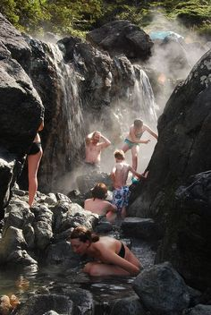 Take a hot springs tour to Hot Springs Cove, Vancouver Island.