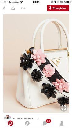 12d99bc9dfc Prada Flower Charm Leather Strap for Handbag