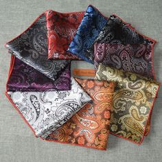 2016 Fashion Paisley Square Pocket for Men Paisley Pattern Polyester Hankerchief of 9 Colors Gentlemen Wedding Pocket Square♦️ SMS - F A S H I O N 💢👉🏿 http://www.sms.hr/products/2016-fashion-paisley-square-pocket-for-men-paisley-pattern-polyester-hankerchief-of-9-colors-gentlemen-wedding-pocket-square/ US $1.67