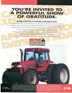 1994 Case International Harvester IH 7250 Magnum Tractor Magazine Ad | eBay
