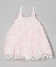 Pink Lace Babydoll Dress - Girls #zulily #zulilyfinds
