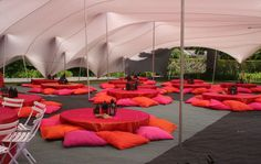 Bedouin style wedding tent interior and decor. Stretch Bedouin tents manufactured by RHI tents. Renowned for top quality and design. Bedouin Tent, Luxury Toilet, Moroccan Theme, Moroccan Party, Moroccan Design, Mehndi Decor, Luxury Restaurant, Lounge, Healthy Cat Treats