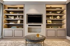 Built in wardrobe, luxury wardrobe, home design diy, built in furniture, jo Fireplace Feature Wall, Family Room Fireplace, Home Design Diy, House Design, Interior Design, Tv Built In, Built Ins, Living Room Tv, Living Spaces