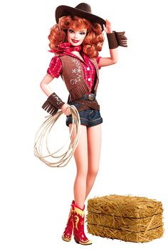 """How the hell did I not know of this barbie & why don't I own her?! """"Way Out West Barbie from the Pin Up Collection"""""""