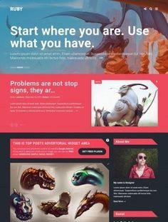Ruby  homepage theme