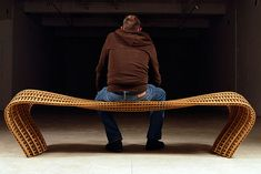 Matthias Pliessnig's ash and white oak steam-bent benches are the perfect mix of sculpture, furniture design and art.