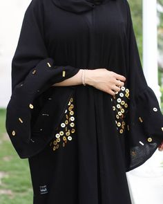 Image may contain: one person or more - Women's Hijabs Burqa Fashion, Muslim Fashion, Abaya Designs Dubai, African Fashion Dresses, Fashion Outfits, Fashion Shoot, Estilo Abaya, Mode Kimono, Modern Abaya