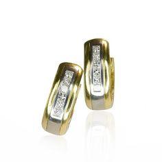 Diamond Earrings by Wempe   Diamant-Creolen mit 0,785ct Diamanten in Weissgold-Gelbgold, Wempe