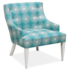 Jonathan Adler Haines Chair In Supernova Teal in Side Chairs