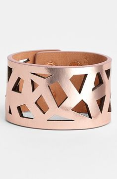Metallic leather cuff - comes in sliver and gold and SO cute
