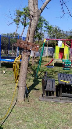 playground with a table