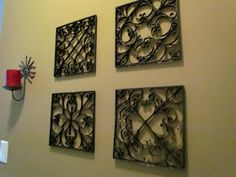 All Things Paper: Faux Metal Wall Art