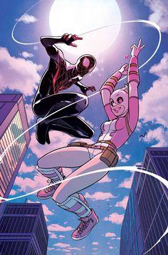 GWENPOOL #5La mejor parte de vivir en un mundo de héroes del cómic? • EQUIPO-UPS, baby! • Gwen cumple Miles Morales, Spider-Man!