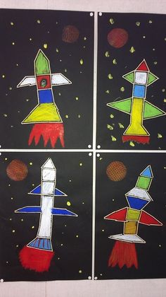 Sistema Solar, Space Crafts For Kids, Art For Kids, Maternelle Grande Section, Space Activities, Kids Art Class, Kindergarten Art, Art Lessons Elementary, Space Theme
