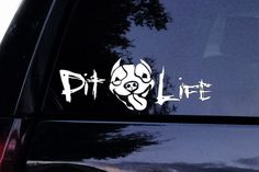 Happy Pit Face Decal - Pit Life Window Sticker
