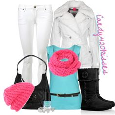 """winter brights"" by candy420kisses on Polyvore"