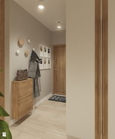 Hol- widok na wejście do mieszkania - zdjęcie od Karolina Krac architekt wnętrz