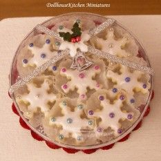 Dollhouse Miniature Gift Box of Snowflake Cookies