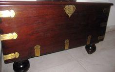 Wooden antique box Indian Furniture, Wooden Furniture, Home Decor Accessories, Decorative Accessories, Antique Boxes, Hope Chest, Cabinet, Antiques, Storage