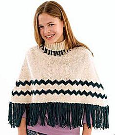 Knit Chevron Poncho