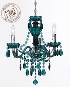 Just like you, the Angelo Surmelis Fulton Mini Chandelier- Dark Green is colorful and fashion-forward. This mini chandelier was designed by Angelo. Chandelier Bougie, 3 Light Chandelier, Chandelier Shades, Teal Chandeliers, Turquoise Chandelier, Lamp Shades, Aqua, Pink Purple, Mint