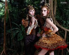 Models: Elena B & Dayana D from Diva Models  Makeup & Hair: Christine Yong  Frederick Lee Couture