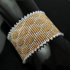 Bead loomed cuff - The Snake Charmer by CatsWire.deviantart.com on @DeviantArt