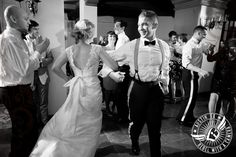 Bride and groom dance at their wedding reception at the DoubleTree Hotel in Austin