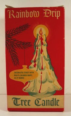 Rainbow-Drip-Vintage-Gurley-Christmas-Tree-Candle-Vintage-Box-Unused-1950s