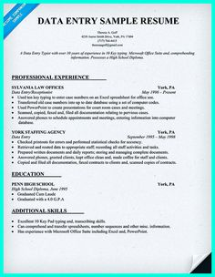your data entry resume is the essential marketing key to get the job you seek the resume including for the data entry specialist resume must be well