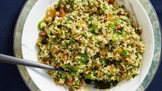 Farro with Pistachios, Mixed Herbs, and Golden Raisins Recipe | Bon Appetit