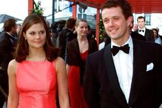 royalfamilyswedenYoung Crown Princess Victoria and Crown Prince Frederik on their way to a concert in Luxembourg in 2001