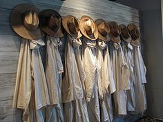 Monks robes hanging int he barn at the Monastery of the Holy Ghost, Conyers, GA