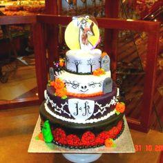 Jack & Sally Wedding Cake