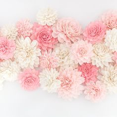 "​Create the perfect color combination using our wood flowers! These 3"" and 4"" flowers are perfect for wedding, bridal shower..."