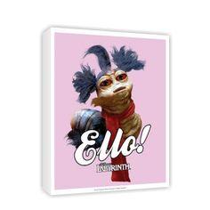 'Ello' The Worm #Canvas #Labyrinth #Movie #Jim #Henson #David #Bowie #Gifts #Merchandise #Film 80's #Retro www.labryinthmovie.co.uk