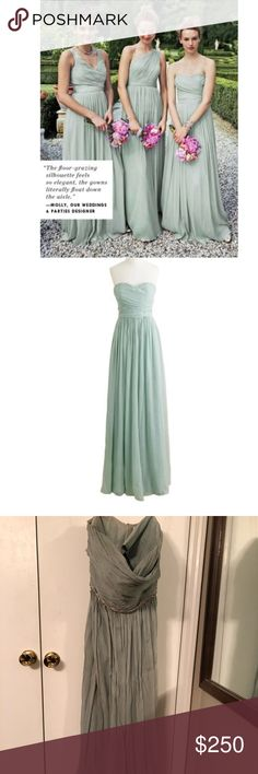 e439abc89767d Strapless Annabelle J Crew Bridesmaid Dress This light green Annabelle  bridesmaid dress is perfect for a