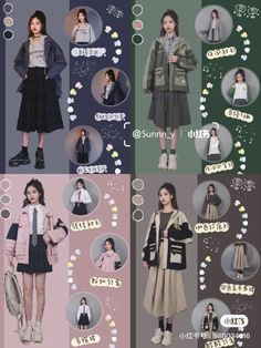 Dress Design Sketches, Fashion Design Sketches, Korean Girl Fashion, Korean Street Fashion, Kpop Fashion Outfits, Korean Outfits, Aesthetic Clothes, Cool Outfits, Vintage Fashion