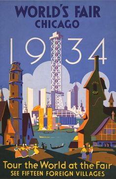 Poster For The 1934 Chicago Worlds Fair Photograph  -