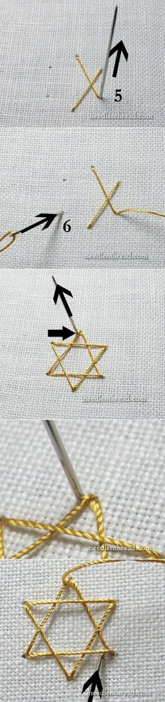 ч.2 Stitch Fun: Star Stitch – for Stars and Snowflakes – Needle'nThread.com