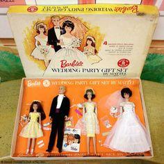 Vintage Barbie Wedding Party Git Set - WITH BOX!