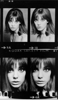 Jane Birkin. Contact sheet: Eric Swayne, 1965.