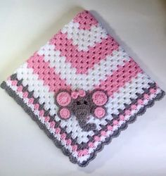 Newborn Elephant, Pink Elephant, Hand Crochet, Crochet Baby, Elephant Blanket, Blankets For Sale, Granny Square Blanket, Pink Grey, Baby Shower Gifts